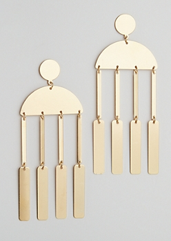 Golden Bar Drop Earring