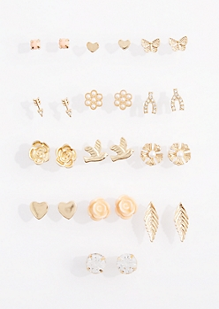 13-Pack Sweet Wish Stud Earring Set