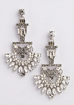 Geo Chandelier Stone Earrings