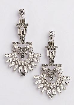 Geo Chandelier Stone Earrings