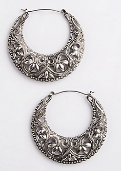 Western Filigree Hoop Earrings