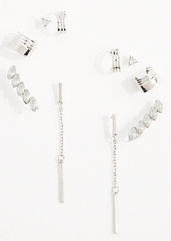 10-Pack Marquise Spray & Cuff Earring Set