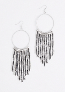 Chain Link Fringed Hoop