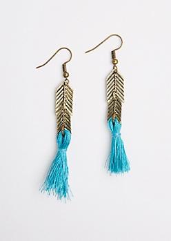 Antique Arrow Tassel Earrings