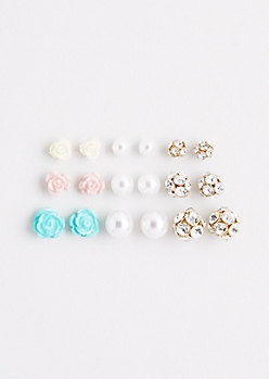 Cake Flower Stud Set