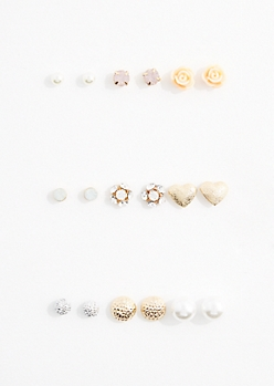 Rosy Stone Earring Set