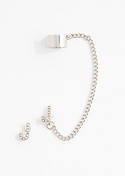 J Stone Shimmer Cuff Earring Set