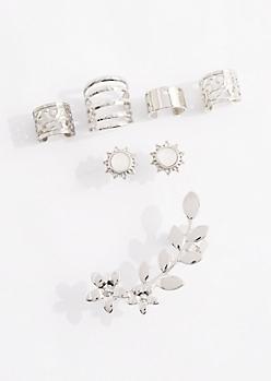 Daisy Climber Cuss Earring Set