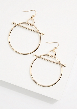 Golden Hoop & Bar Earring