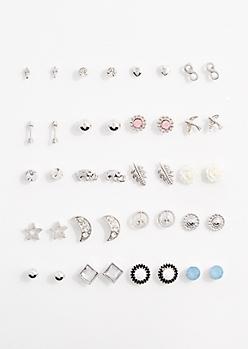 Boho Moon Earring Set