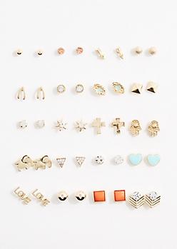 Boho Stone Earring Set