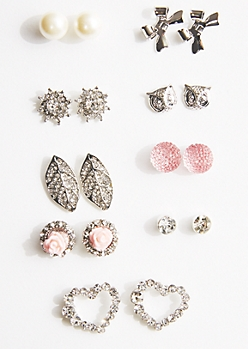 9-Pack Shimmering Romance Earring Set