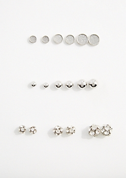Fireball Stud Earring Set