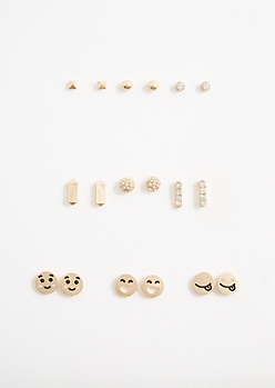 Smiley Face Earring Set
