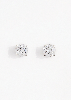 Large Cubic Zirconia Stud Earring