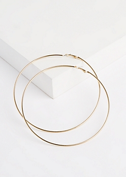 Golden Oversized Hoop Earrings