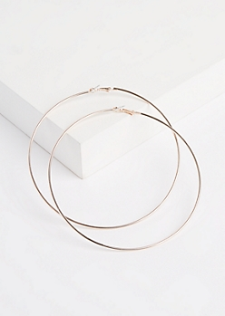 Rose Gold Oversized Hoop Earrings