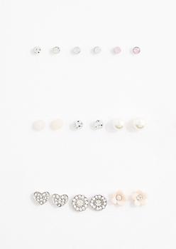Pink Shimmer Earring Set