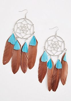 Dreamcatcher Drop Statement Earrings