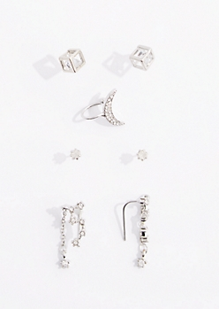 7-Pack Celestial Geo Ear Cuff Set