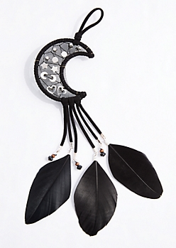 Crescent Moon Dreamcatcher Earring Set