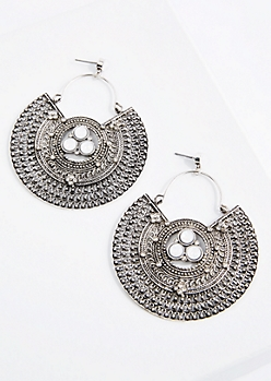 Tribal Plate Earring