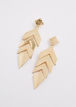 Jointed Chevron Drop Earrings