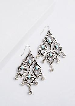 Turquoise Drop Chandelier Earring