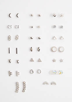 20-Pack Geo Mini Stud Earring Set