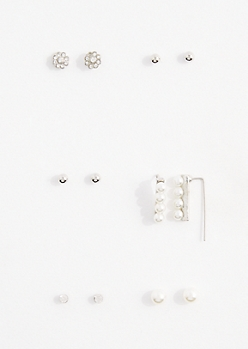 Pearly Drops Earring Set