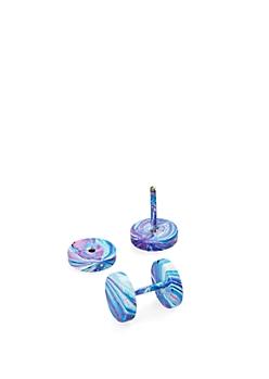 Tie-Dye Faux Gauge Studs