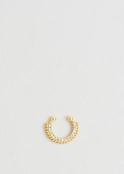 Gold Diamante Illusion Septum Ring