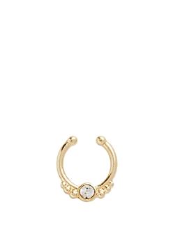Gold Metallic Faux Septum Ring