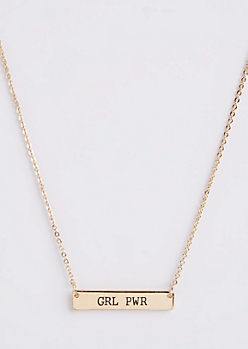 GRL PWR Charm Necklace