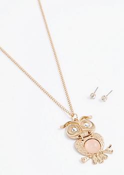 Owl Pendant Jewelry Set