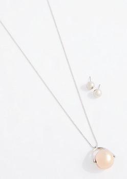 Twirling Pendant Jewelry Set
