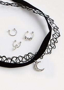 Crescent Choker & Septum Ring Set