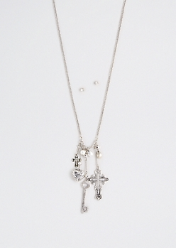 Vintage Cross Cluster Necklace