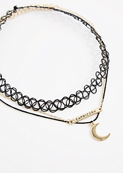 3-Pack Golden Capricorn Fortune Choker