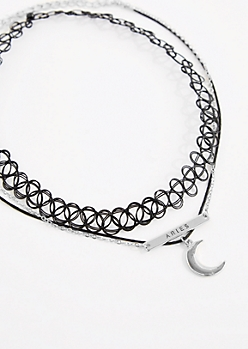 3-Pack Silver Aries Fortune Choker