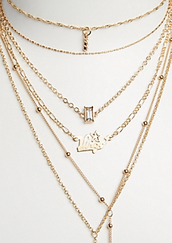 6-Pack Golden Virgo Necklace Set