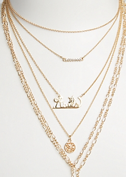 6-Pack Golden Aries Necklace Set