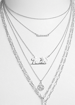 6-Pack Silver Aries Necklace Set