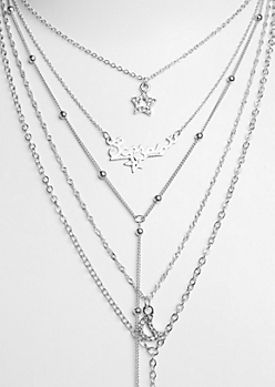 6-Pack Silver Scorpio Necklace Set