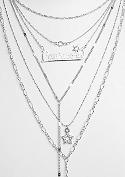 6-Pack Silver Capricorn Necklace Set