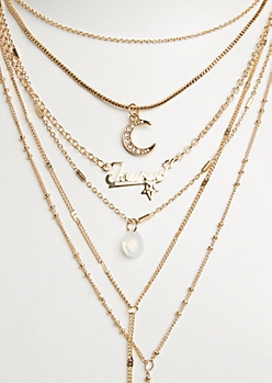 6-Pack Golden Taurus Necklace Set