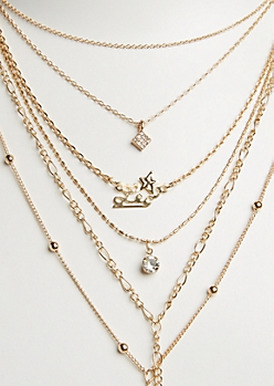 6-Pack Golden Leo Necklace Set
