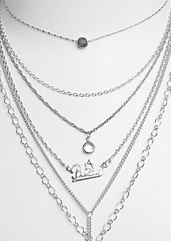 6-Pack Silver Pisces Necklace Set
