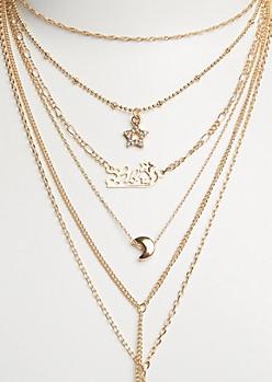 6-Pack Golden Libra Necklace Set