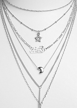 6-Pack Silver Libra Necklace Set